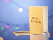 кролик подарка поздравительой открытки ко дню рождения Стоковые Изображения