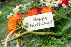 кролик подарка поздравительой открытки ко дню рождения Стоковое Фото