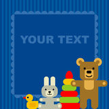 кролик подарка поздравительой открытки ко дню рождения иллюстрация вектора