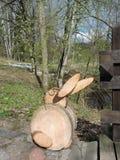 Кролик сделанный от древесины Стоковые Фото