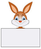 Кролик с знаменем Стоковые Изображения RF
