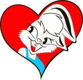 Кролик с сердцем Стоковая Фотография