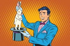 Кролик фокуса волшебника Стоковое фото RF