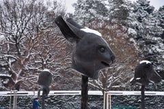 Кролик Часть круга животных/зодиака возглавляет выставку Стоковые Изображения