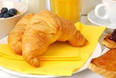 круасанты завтрака Стоковые Фото