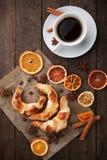 Круасанты и кофе Стоковое Изображение