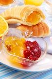 круасант завтрака Стоковое Изображение RF