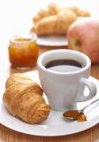 круасант кофе завтрака Стоковое Изображение RF