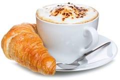 круасант кофе Стоковое Изображение