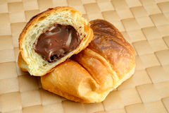 Круасант шоколада Стоковое Изображение