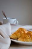 Круасант для завтрака Стоковая Фотография