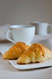 Круасант для завтрака Стоковое Фото