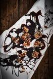 Круассан с отбензиниванием шоколада Стоковые Изображения RF