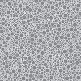 Круги абстрактной безшовной картины малые серые текстурируют предпосылку иллюстрация штока