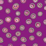 Круги глаз или покрашенная дунутая безшовная картина Текстура EPS8 вектора Стоковое Изображение
