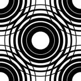 круги делают по образцу безшовное Предпосылка с решеткой, сеткой intersec иллюстрация вектора