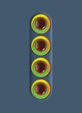 Круги дизайна красочные с стекловидными шариками Стоковые Фотографии RF