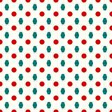 Круги и картина полигонов безшовная Стоковое Фото