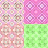 Круги картины красочные геометрические яркие безшовные Illus вектора Стоковая Фотография