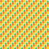 Круги, квадраты и треугольники равномерно помещенные в строках иллюстрация вектора