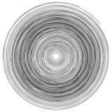 Круги концентрических колец делают по образцу абстрактный monochrome элемент, вектор водоворота вортекса иллюстрация штока