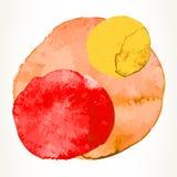 Круги краски акварели стоковые изображения