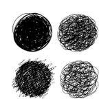 Круги нарисованные рукой Стоковые Фото