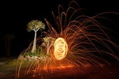 Круги огня Стоковое Изображение RF