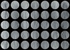 Круги покрашенные серебром Стоковые Фото