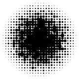 Круги полутонового изображения, картина точек полутонового изображения Monochrome полутоновое изображение иллюстрация вектора