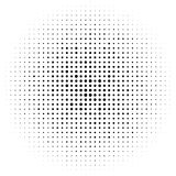 Круги полутонового изображения, картина точек полутонового изображения Monochrome полутоновое изображение Стоковое Изображение RF