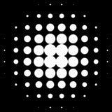 Круги полутонового изображения, картина точек полутонового изображения Monochrome полутоновое изображение Стоковые Изображения