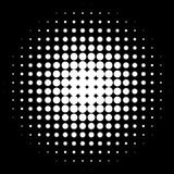 Круги полутонового изображения, картина точек полутонового изображения Monochrome полутоновое изображение Стоковое Изображение