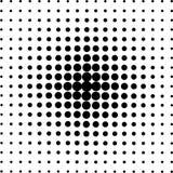 Круги полутонового изображения, точечный растр полутонового изображения иллюстрация штока