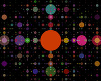 Круги предпосылки других цветов Стоковые Изображения RF