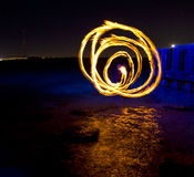 Круги пламени Стоковые Фото