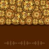 Круги с декоративными свирлями и тенью Нарисовано вручную Предпосылка вектора иллюстрация штока