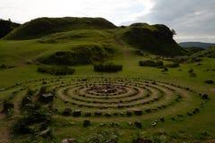 Круги феи Глена, Skye, Шотландии стоковая фотография rf