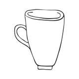 Круги чертежа бесцветно Иллюстрация вектора вручную бесплатная иллюстрация