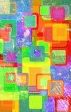 Круги Grunge на стене Стоковое Фото