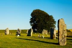 Круги henge и камня Avebury Стоковые Фото