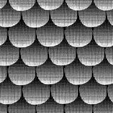 Круги Monochrome безшовной предпосылки вектора черные текстурированные выровнянные вверх Белые точки в ряд на черной предпосылке  бесплатная иллюстрация