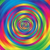 Круги w концентрической красочной спирали случайные Абстрактный циркуляр p Стоковое фото RF