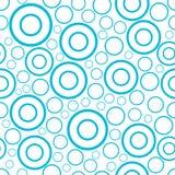 Круглая безшовная картина случайных кругов и кольца орнаментируют предпосылку иллюстрация вектора