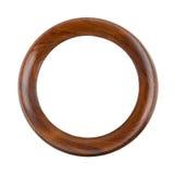 Круглая деревянная рамка Стоковая Фотография