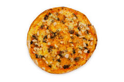 Круглая изолированная пицца Стоковое Фото