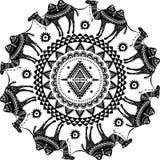 Круглая картина с украшенными верблюдами Стоковые Фотографии RF