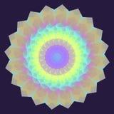 Круглая радужная геометрическая предпосылка Стоковая Фотография