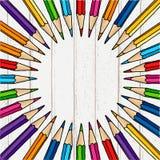 Круглая рамка карандаша Стоковое Фото