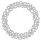 Круглая рамка кленовых листов r иллюстрация вектора